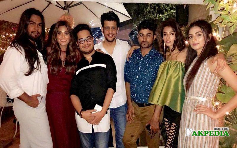 Zara Abid with her fellow models