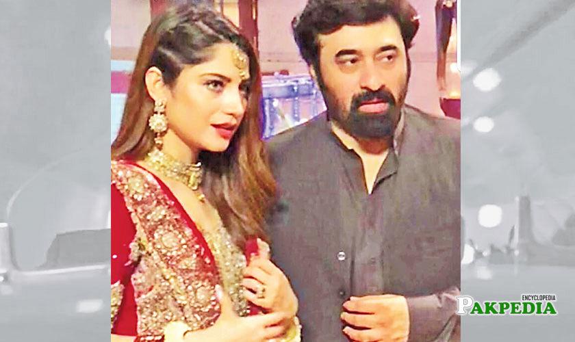 Neelam with Yasir Nawaz on set of 'Dil mom ka diya'