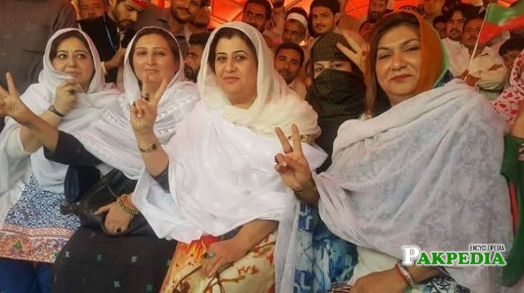 Aisha Naeem with other members of the party