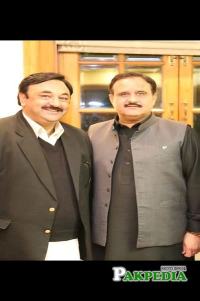 Raja Yawar Kamal with Chief Minister Usman Buzdar