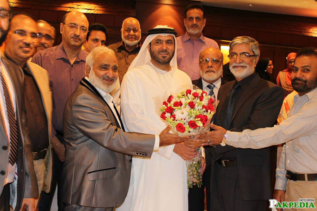 Mr. Imtiaz Abbasi receive shield of honor