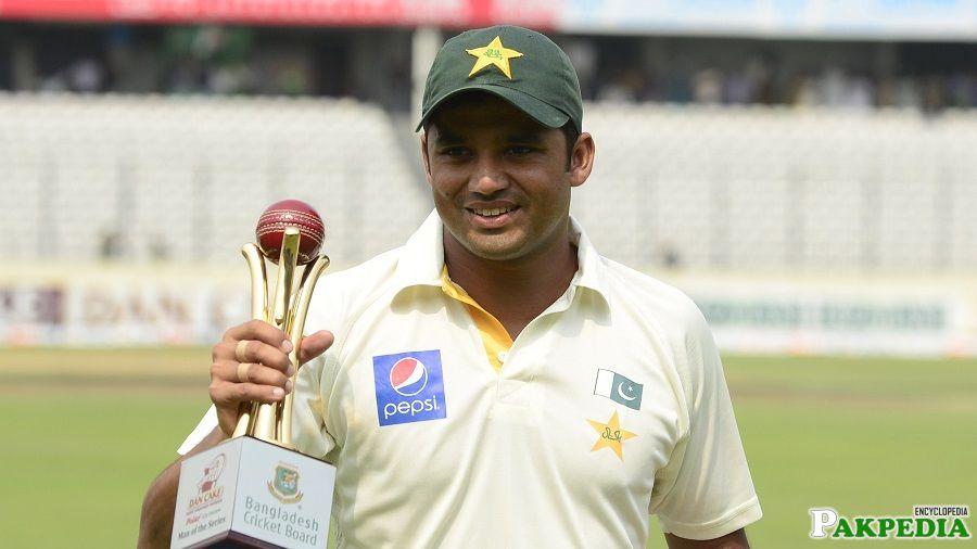Azhar Ali Hold A Troffy