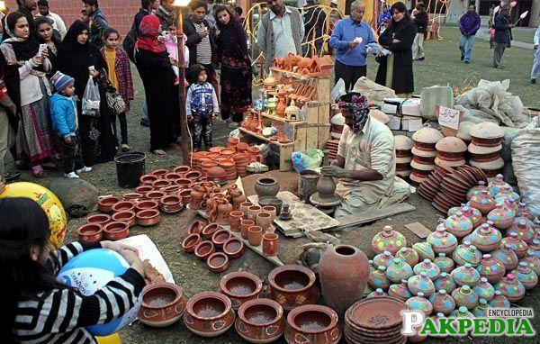 stall during Jashn-e-Baharan Festival