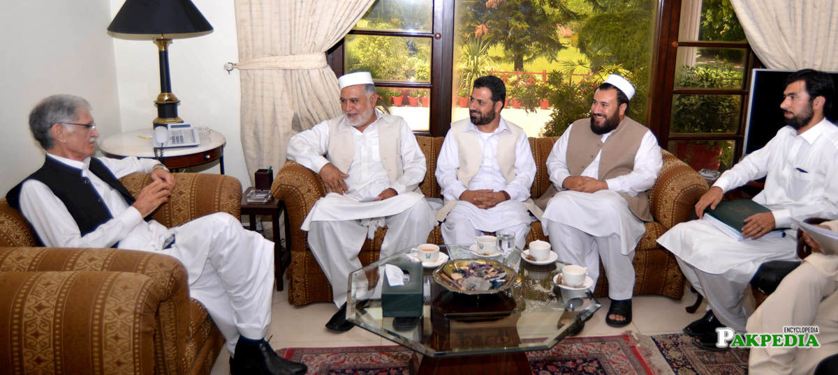 With Pervez Khattak and other Members