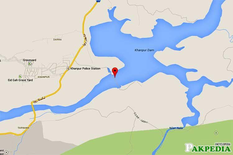 Khanpur Dam Map