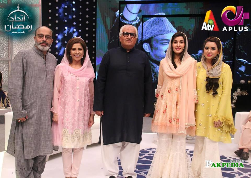 Shaista Lodhi with Other Guests