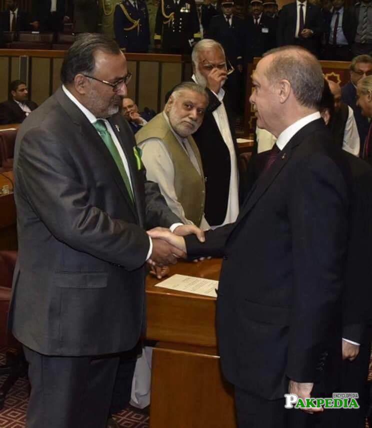 Meeting Turkish President Tayyip Ardugan