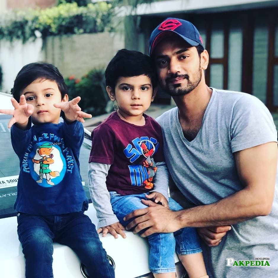 Zahid Ahmed with his adorable sons