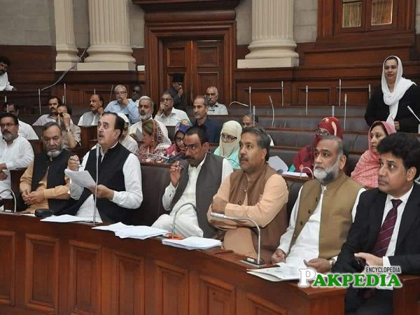 Faqeer Hussain Dogar in National Assembly with other members