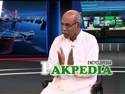A Talk show picture of Safdar Ali Abbasi