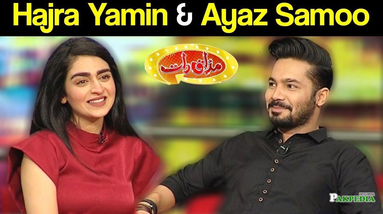 Ayaz Samoo on the sets of Mazak raat
