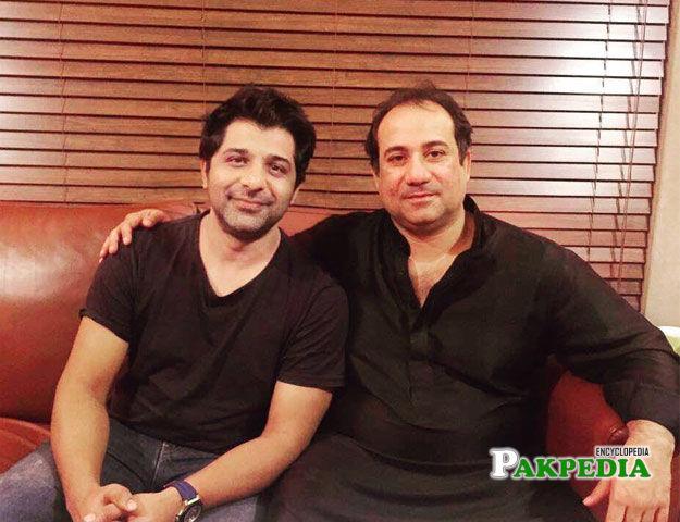 Shuja Haider with legendary Rahat fateh Ali khan