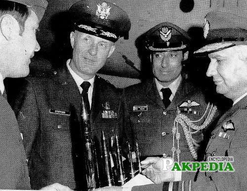 Air Chief Marshal Zulfiqar Ali Khan and General Stafford at the Edwards Base