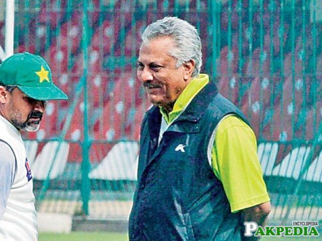 Zaheer Abbas in Ground