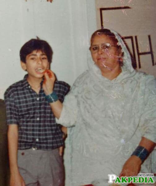 With His Mother