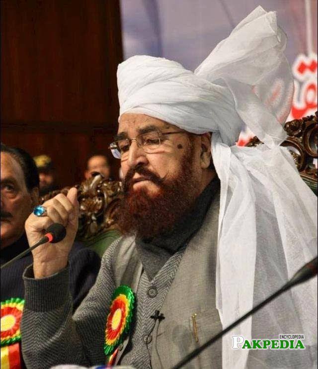 Ameer Muhammad Akram was talking to media