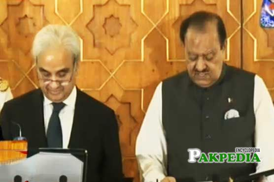 With Mamnoon hussain
