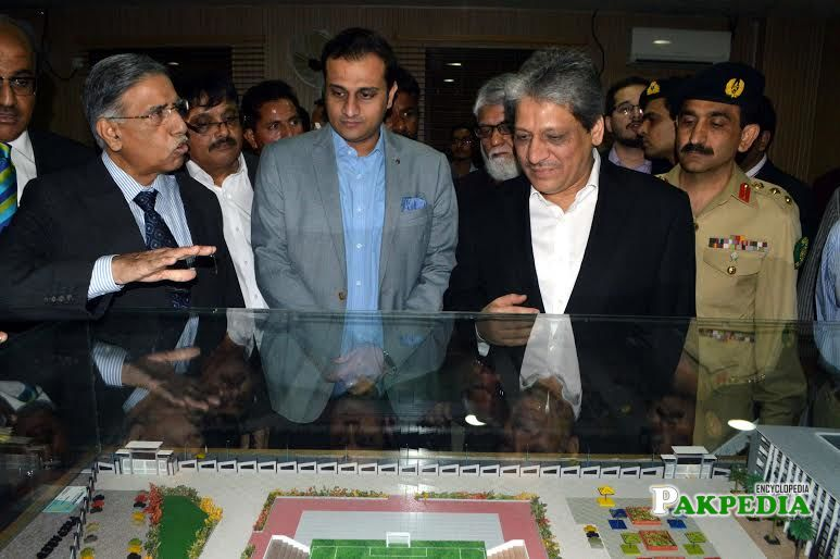 Barrister Murtaza along with Governor of Sindh