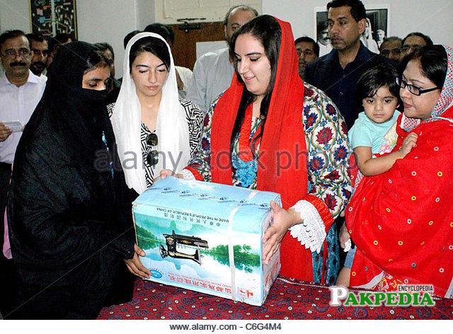 While distributing sewing machines among people