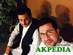 Raheem Shah Afridi in his house