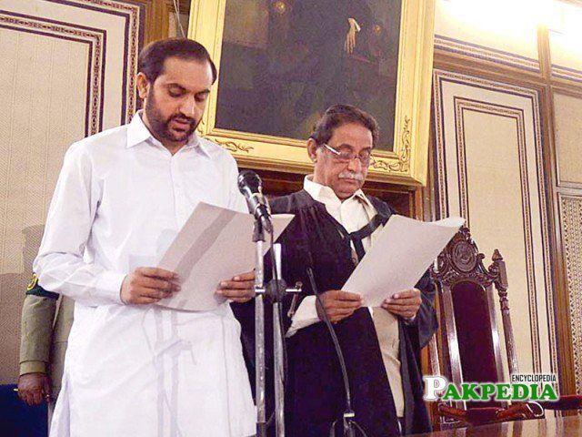 With jan mohammad jamali while taking oath