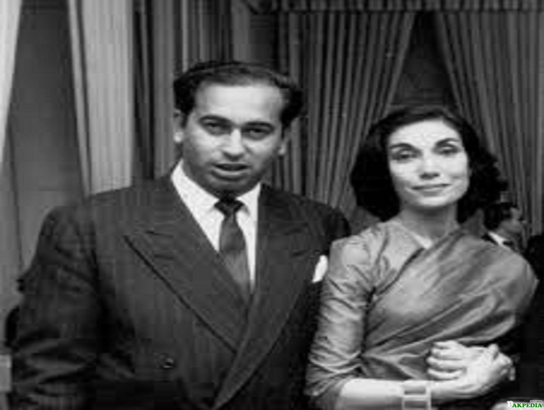 Zulfikar Ali Bhutto with Wife Begum Nusrat Bhutto