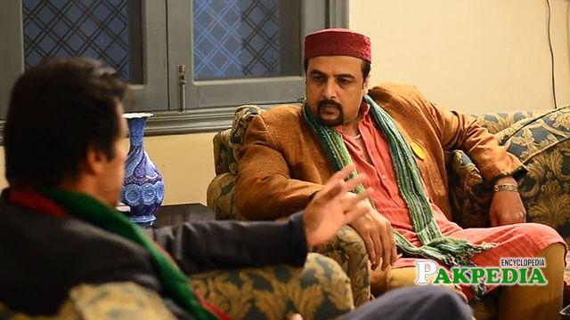 Salman Ahmad with Imran Khan