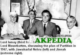 Nehru and Jinnah with Mountbatten