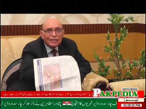 Abdul Jamil Khan on a news channel