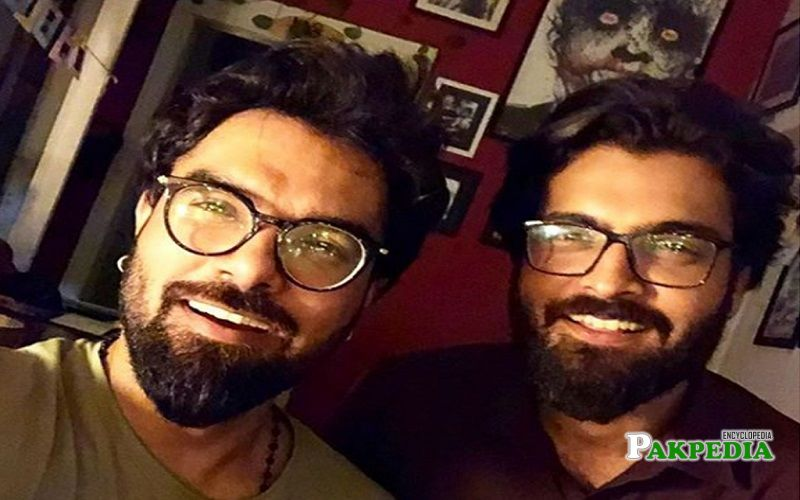 Asad Siddiqui with his best friend Yasir hussain