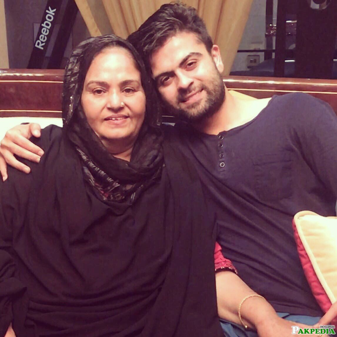 Ahmed Shehzad and Mother