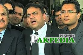 Fawad chaudhry in a Press conference