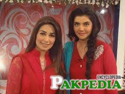 Reema Khan with nida yasir