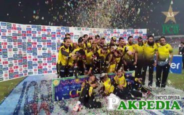 Iqbal Stadium Celebrate pak team
