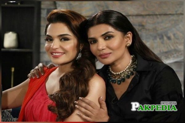 Iffat Umar with Meera on her show