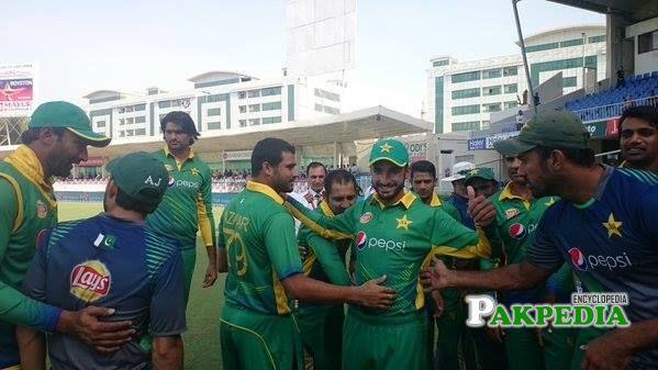 With Pakistani Team Players