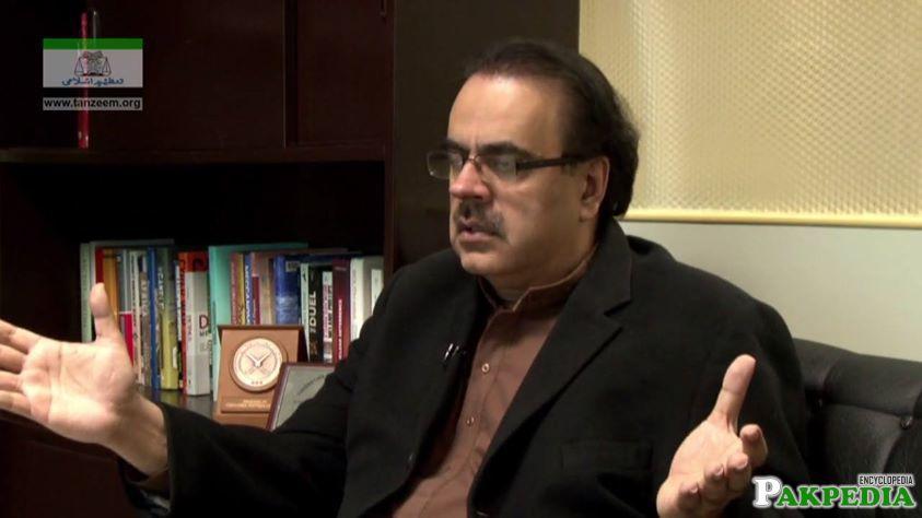 Dr. Shahid Masood talk about somethink