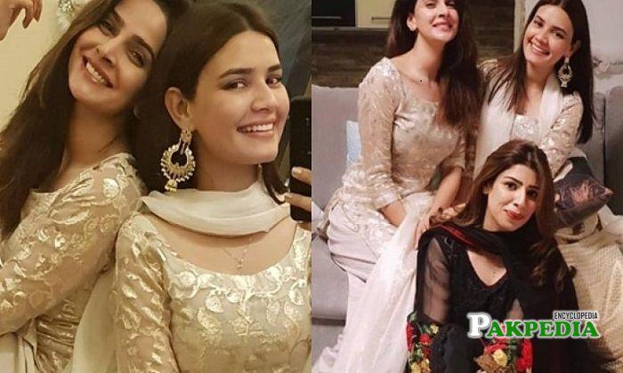 Kiran haq with her best friends
