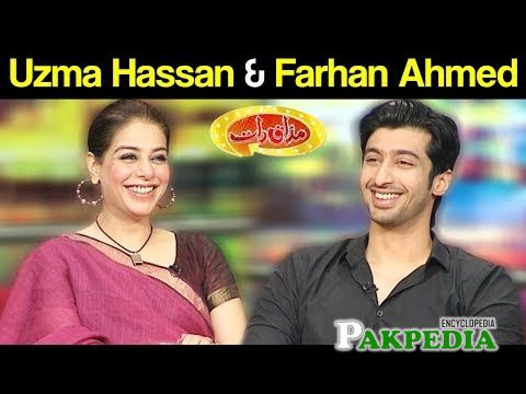 Farhan Malhi on sets of Mazak raat