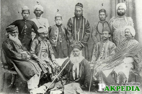 Sir Syed Ahmad Khan with family & Friends
