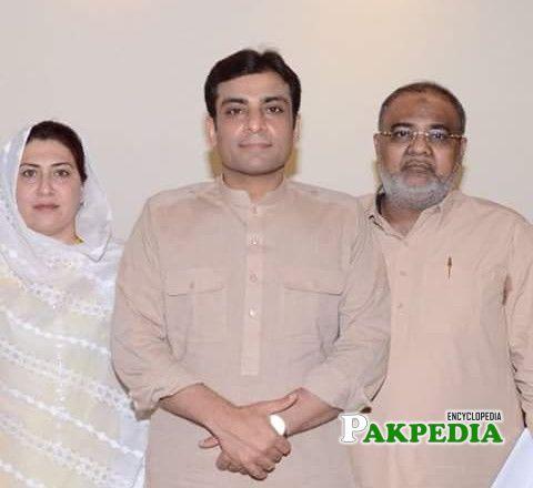 With Hmza Sharif and Rashida Yaqub Sheikh (His Wife)