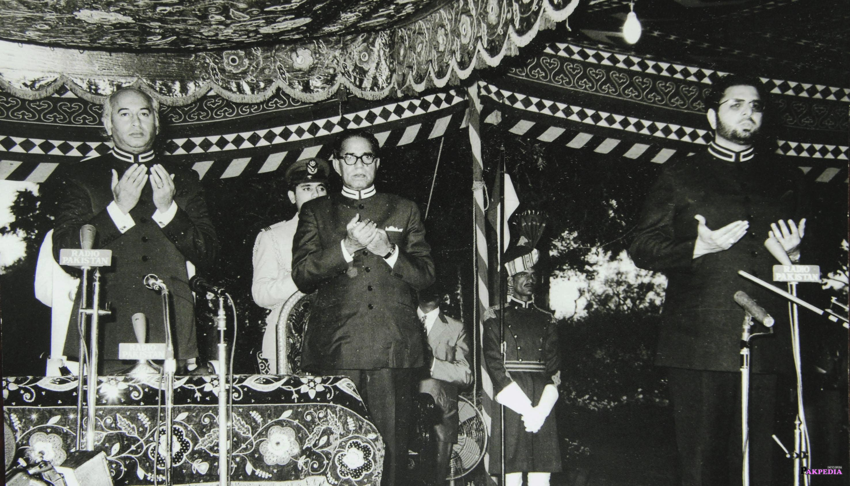 Fazal Elahi Chaudhry was praying