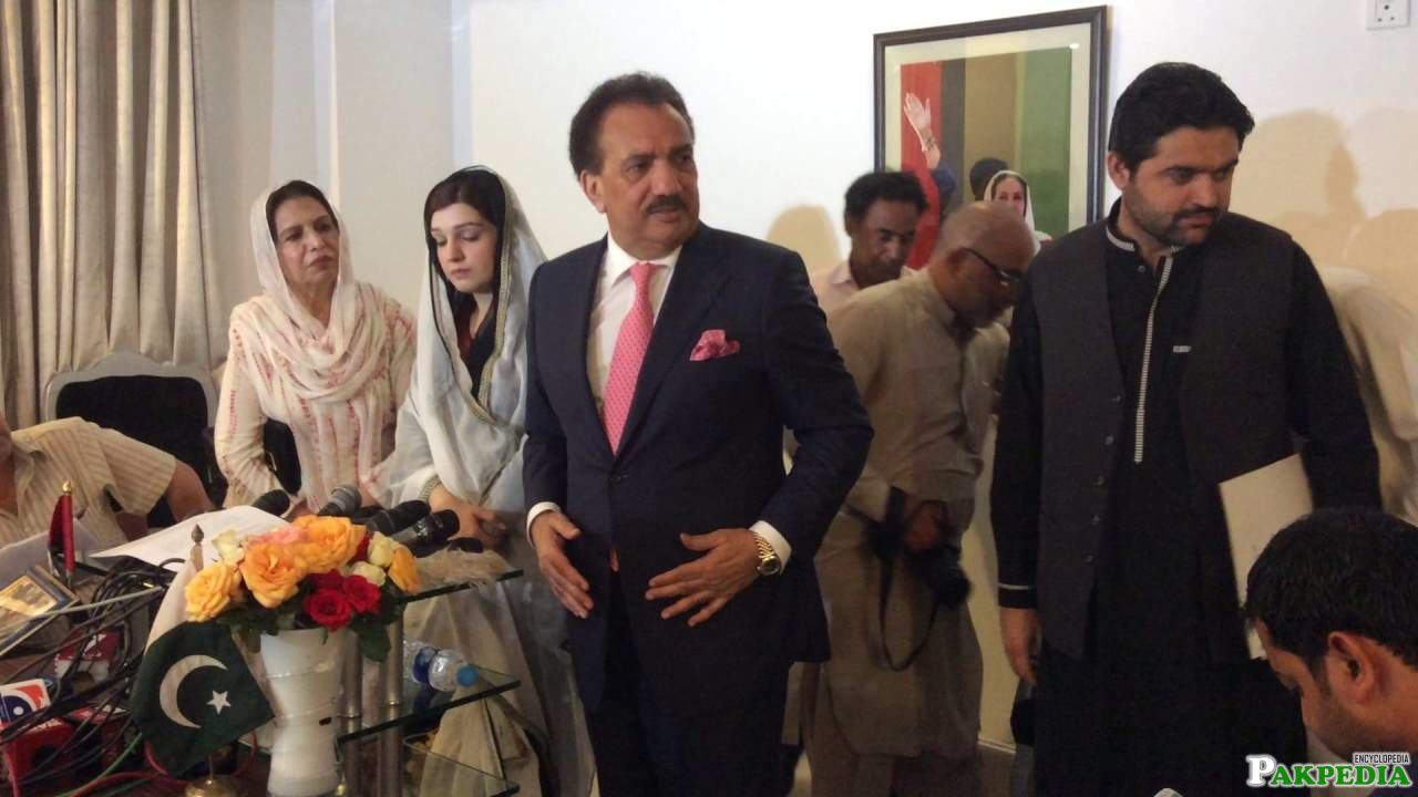 Rehman Malik and Mushaal Hussain Malik Joint Press Conference