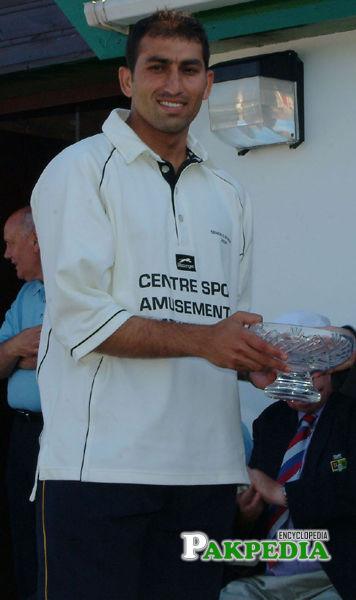 Azhar shafiq during bowling