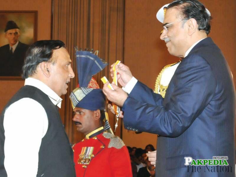 While receiving Sitara i imtiaz for his services as chairman