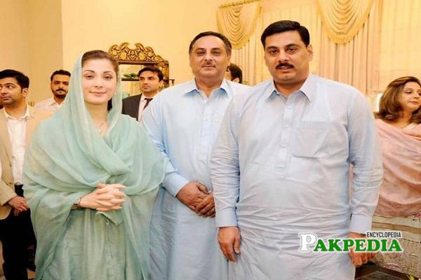 Imran Khalid Butt with Maryam Nawaz Sharif