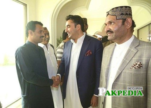 Ali Gohar with Bilawal Bhutto Zardari