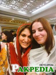 With Fauzia Kasuri