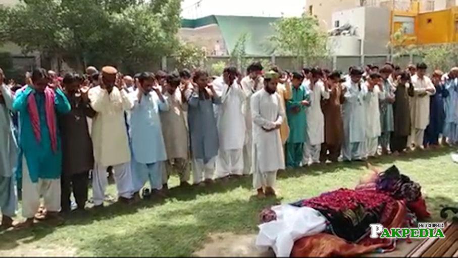 Funeral of Samina Sindhu