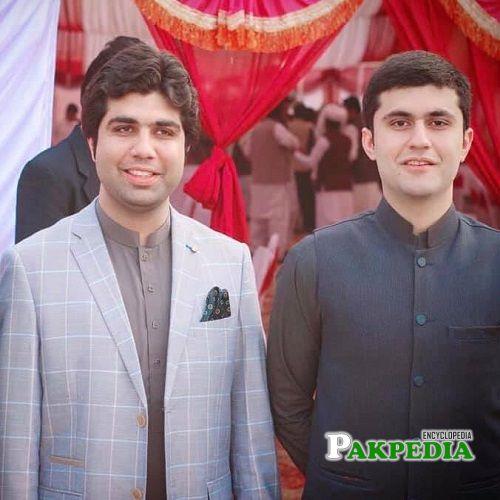 Khurram Sohail Khan Laghari with his brother